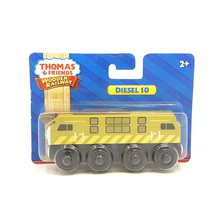 w95 free shipping Thomas and friends Wooden magnetic locomotive DIESEL 10 kids Orbital toys boutique gift box(China)