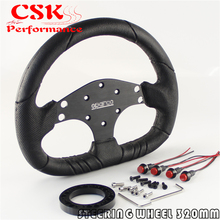 320mm Pu Leather Steering Wheel + Hub Adapter For Nar di / Sparco /Momo /Omp JDM