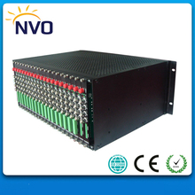 Fiber Optic Video Converter 4U Rackmount Chassis with Double power supply