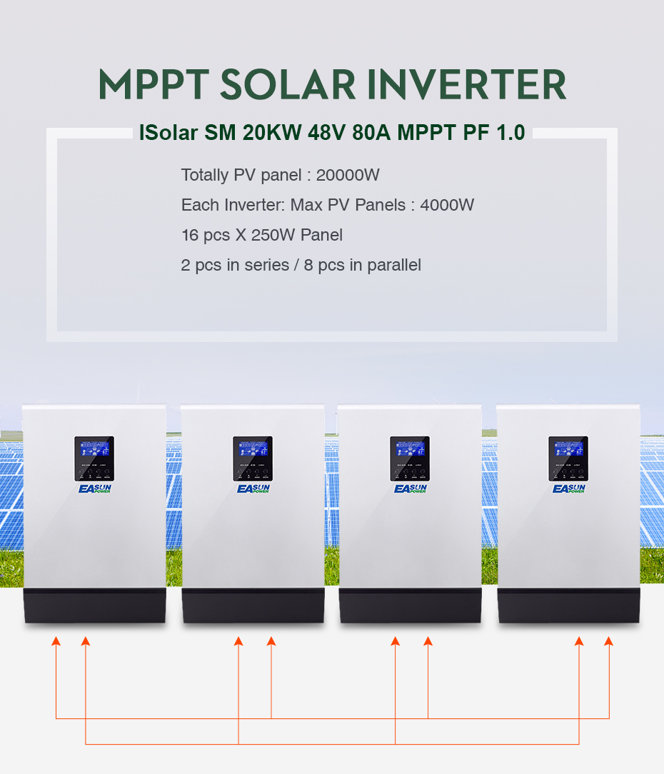 EASUN POWER 20Kw Solar Inverter 80A MPPT Pure Sine Wave Off Grid Inverter 48Vdc 220Vac & 380Vac 60A AC Charger For 1 & 3 Phase01