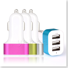 Triple Universal USB Car Charger 3 Port Car-charger battery Chargers Cigarette Adapter for iPhone 6 Plus SE iPad Mini 2/3 iPod(China)
