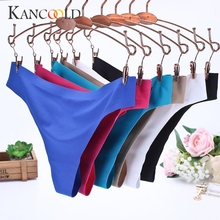 Buy KANCOOLD Intimates panties Sexy Women Invisible Underwear Briefs G-Strings Ice Silk Seamless Crotch panties sexy 2018JU12