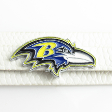 8mm Slide charm American Football Team Baltimore Ravens Slide Charms Fit DIY Necklace & Bracelet(China)