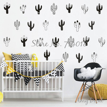 Woodland Cactus Wall Decals Vinyl Sticker for Kids Room Baby Bedroom Decal Geometric Unique Tribal Home Decor Christmas Art A819