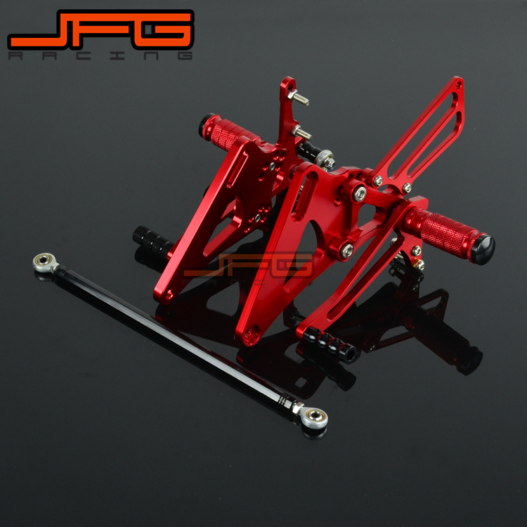 Motorcycle CNC Adjustable Foot Pegs Pedals Rest Rearset Footpegs For HONDA CB400 CB 400 VTEC