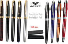 Rollerball pen with gift box  BAOER 388 and BAOER 517 the best gifts wholesale 100 pcs lot  Free  Shipping