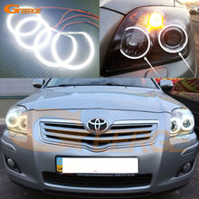 For Toyota Avensis T25 2006 2007 2008 2009 Excellent Ultra bright smd led Angel Eyes Halo Ring kit