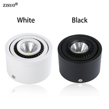 ZINUO Surface Mounted LED Spot Light 360 Degree Rotation LED Downlights 5W 7W 9W 20W  COB Downlights AC85-265V LED Ceiling Lamps