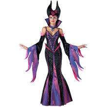 Witch Cosplay Suit Dress Women Long Sleeve Sheath Bodycon Halloween Costume Sexy Club Queen Party Dresses Halloween Clothes(China)