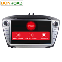 Bonroad Android 7.1/ 8Core1024*600 Ram 2G Rom 16GB Car Video Player For IX35 2009-2015  DVD CD GPS Navigation Radio audio Player