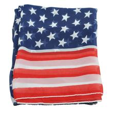 Hot Selling Women Girl Scarves American Flag US Flag Patriotic Theme Scarves 2016 Most Popular Cheap(China)