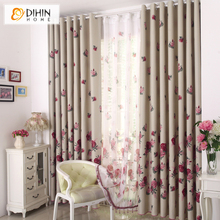 Blinds Top Fashion Excluded Sales Rustic Finished Products Quality Curtain Fabric Full Shade Curtains for free Shipping