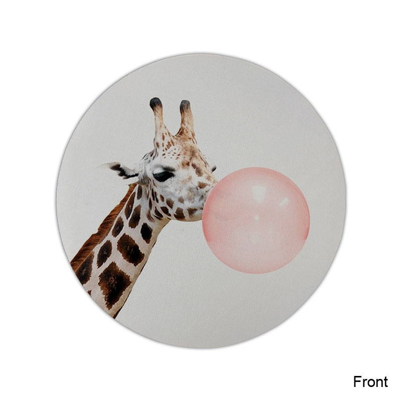 Funny Giraffe Mouse Pad Round Mat (6)