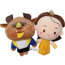 2pcs Beauty And The Beast Cartoon Movie Anime Toys Stuffed & Plush Animals Soft Toy For Girls For Girls Kids Children Gift(China)
