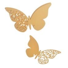 Wholesale 720pcs/lot Gold Laser Cut Vintage Butterfly Party Table Name Place Cards Favor Souvenirs Casamento Wedding Decoration
