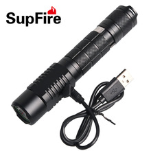 Amazing Flashlight Torch Supfire L6-XPE XML2-T6 300LM Aluminum IP6-7 Waterproof Camping Self-defense Portable light(China)