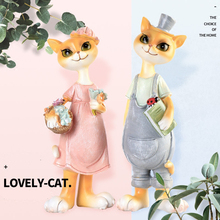 DMLS Creative Wedding Gift Cute Lover Book Cat Figurines Lovely Kitty Resin Toy Artware Home Decor 2 pcs/set Free Shipping(China)