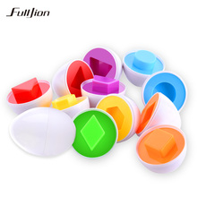 Fulljion Learning Education Toys 6 Smart Egg/Set Wise Pretend Play Mixed Shape Puzzle For Children Toys Kids Tools Brain Games(China)