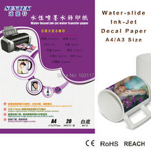 Inkjet Printer Water Based Dyes/Pigments Ink Water Slide Decal Paper Transfer Varity of Materials(China)