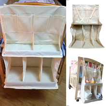 Waterproof Diapers Organizer Baby Bed Hanging Bag Portable Storage Bedding Accessories J2Y