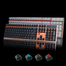 Customizable Backlight Mechanical Keyboard 87/104 Keys Black/White/Blue/Red Switch Computer Gaming Wired USB Keyboard for Gamer