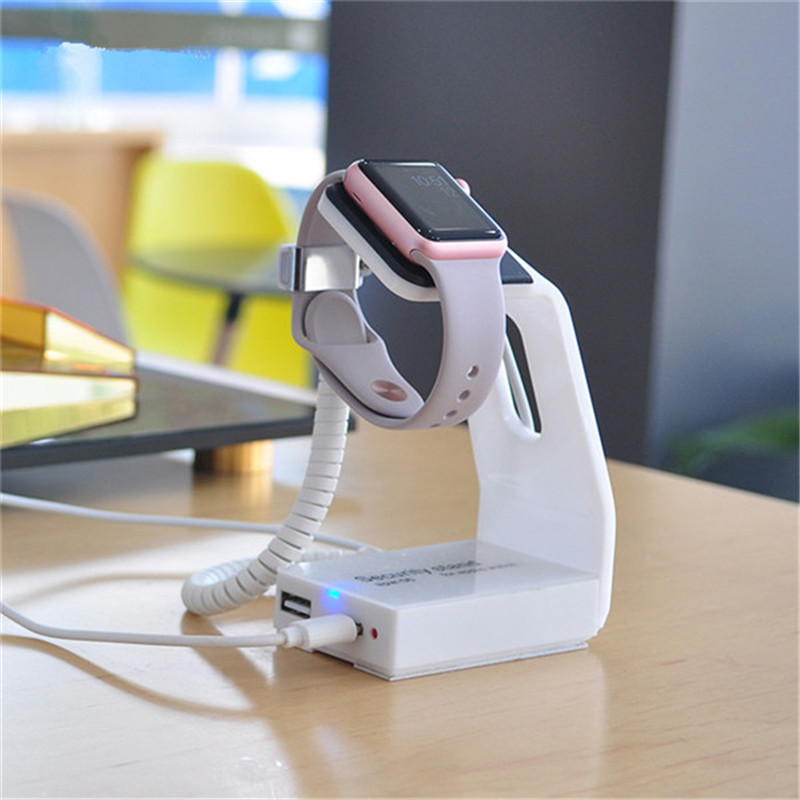 (5 set /lot ) white color abs remote control anti theft display stand for applewatch <br>