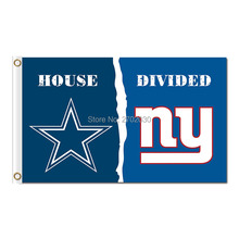 Dallas Cowboys Vs New York Giants Flag And Banner World Series 2016 House Divided 3ft X 5ft Premium Football Team Flag