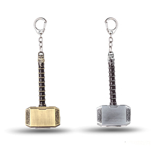 JM Jewelry Avengers Thor's Hammer Toy Mjolnir 8cm Keychain New Pewter Keyring Toy Thor Chain Ring Key Men Jewelry Fans JM10822