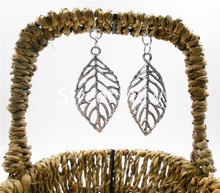 Alloy Series!Hot Sell New Fashion charm Vintage Big Leaf earrings * charm dangle earring vintage retro(China)