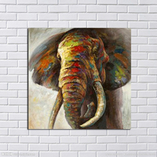 Free Shipping Large Canvas Art Cheap 100% Hand painted Abstract Elephant Oil Painting Modern Living Room Wall Decor no Framed