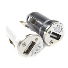 new High Quality USB Car Charger Adapter for Mobile Cell Phone mp3/MP4 head adapter cigarette lighter adapter for iPod for Pad