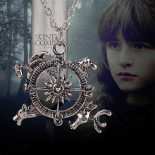 game of thrones necklace compass song of ice and fire vintage antique silver pendant for men and women wholesale