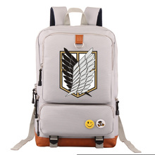 Cosplay Attack on Titan Backpack Unisex Fashion Backpack Laptop Backpack Black Blue Red purple school bag Daily backpack
