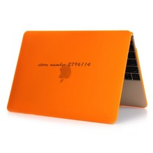 Orange Fashion matte Case Ultra Thin For Apple Macbook Air Pro Retina 11 12 13 15 Laptop Cover Bag For Mac book 13.3 inch(China)