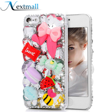 Nextmall Bling Crystal Diamond Cover Case for iPhone 5 5s for iPod Touch 5 6 for Samsung Galaxy S5 Note 3 G530 G360 J7 4.7 inch(China)