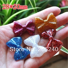 10pcs/Lot Mix 10 Design Flat Back Resin Bow Cabochons with Pearl Cute Botoes De Resina Cora Resin For DIY Phone Decoration(China)