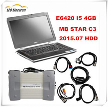 Super MB Star C3 Sd connect with mb star c3 full set cables with 4GB I5 E6420 Laptop installed well DAS +Xentry + WIS+ EPC+Sd