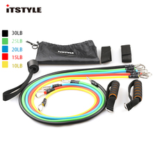 ITSTYLE Resistance Bands Latex 11 IN 1 Sports Fitness Yoga Pilates Trainning Tube Pull Rope(China)