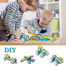 Children Kids Educational Toys Electric Car Building Block Motorized Puzzle Gift(China)