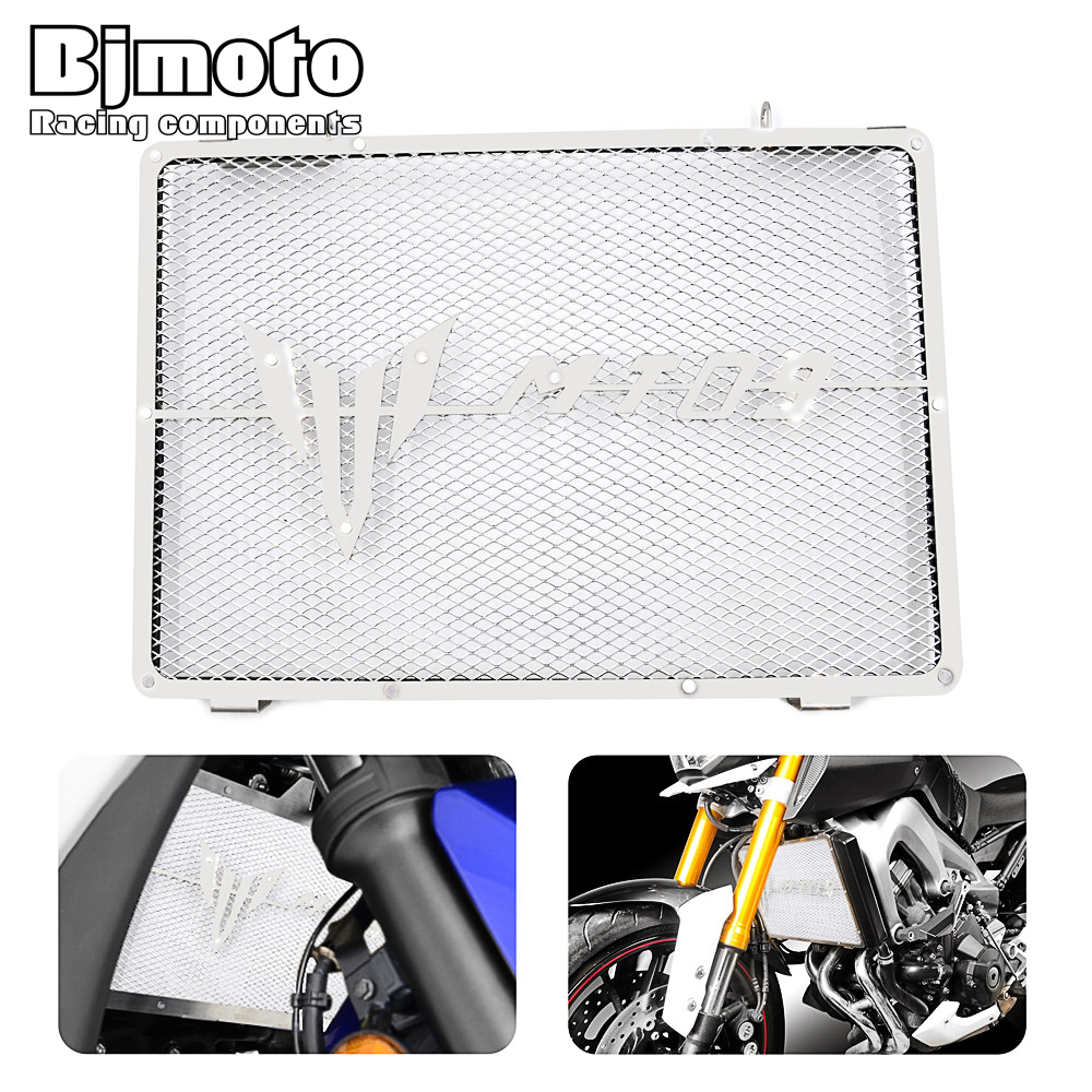 For YAMAHA MT09 MT-09 2014 2015 2016 2017 New Motorcycle Radiator Guard Protector Grille Stainless Steel Radiators Cover<br>