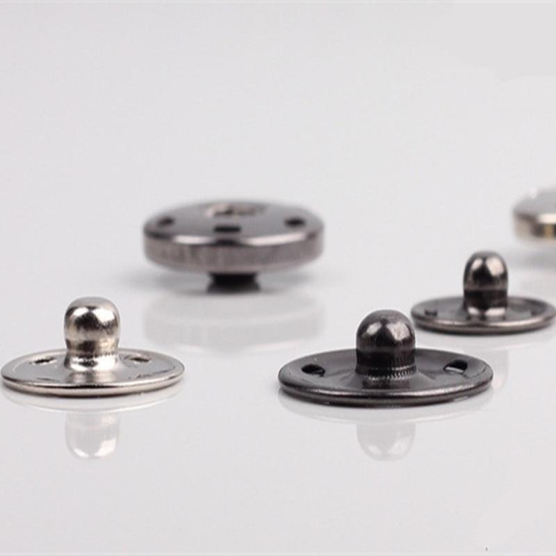 Hemline Sew On Snap Fasteners 13mm Nickel//Silver