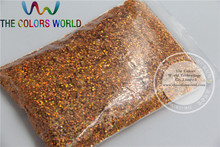 1mm Solvent Resistant Holographic Laser Orange color Makeup Glitter Powder  Eyeshadow  Face Body Cosmetic dust 1 Lot =50g
