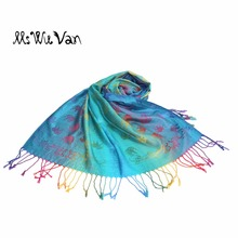 Indian Tippet Elephant Colorful Bohemian Print Scarf Exotic Winter Scarves 100% Cotton Turquoise Pashmina Red Boho Shawls Wraps(China)