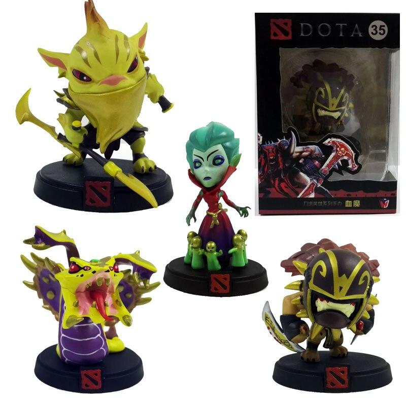 4pcs/set DOTA 2 Venomancer Bloodseeker Bounty Hunter Death Prothet Game Action &amp; toy figures Model PVC Collection Doll dota2 <br><br>Aliexpress