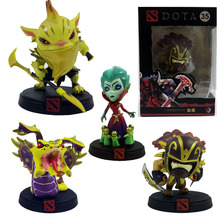 4pcs/set DOTA 2 Venomancer Bloodseeker Bounty Hunter Death Prothet Game Action & toy figures Model PVC Collection Doll dota2(China)