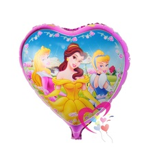 Free shipping 5pcs/lot 18 inch heart balloon princess party,helium baloon,mylar balloon party kids balones