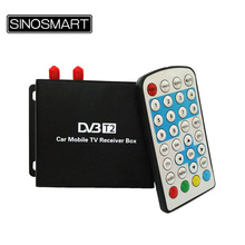 New come High Speed Car digital TV box DVB-T2 TV Box digital TV Receiver with Dual Tuners for Russia(China)