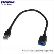 Liislee Original Plugs To USB Adapter Connector For Nissan Teana Qashqai Car CD Radio Audio Media Cable Wire(China)