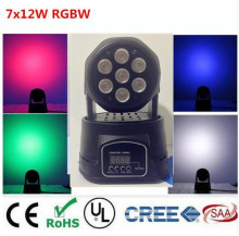 America CREE LED led wash mini moving head light 7x12w rgbw 4in1 leds advanced DMX 9/14 channels dj band lights(China)