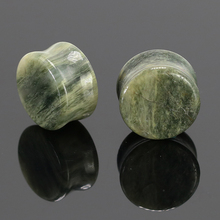 Ear Expander Piercing Stone Plugs And Flesh Tunnels Ear Stretcher Gauge 6-16mm Natural Stone Fashion Body Jewelry